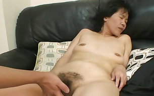 Mature slut Yoshiko Maruyama loves being spoiled with attention and sex toys