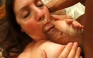 Long haired torrid mature lady gets her too bushy cunt fucked finally
