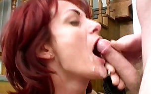 Diana is a luscious beautiful redhead and she loves a good hard fuck