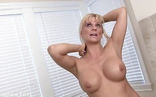Hot mature blonde gets naked for her interview
