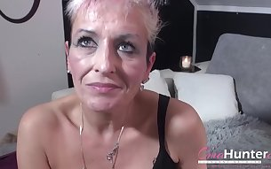Hardcore lesbian mature strapon and gonzo threesome sex footage
