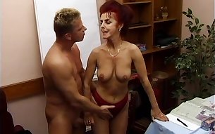 Cora is a redhead granny in need of a pulsating boner