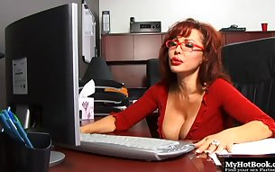 You are going to cream in your pants while watching the hot, redheaded secretary