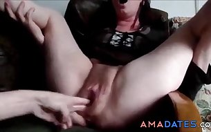 German dirty Slut opens her legs wide to show her cunt