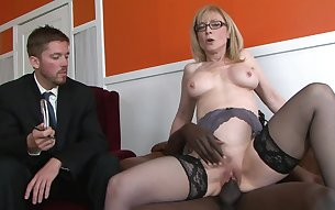 Mature Nina Hartley and black Nathan Threa