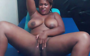 This ebony chick is perfectly designed to be naked and she loves masturbating