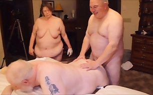 Bisexual old married couple is ready for a kinky amateur MMF threesome
