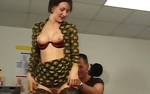 Busty mature bitch Michelle gets naughty with her horny boss in the office