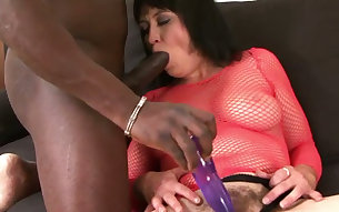 Mature European slut sucks BBC and then gets her old hairy pussy nailed in mish style tough