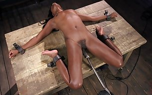 Mature sibmissive ebony slut Ana Foxxx has her hairy pussy abused