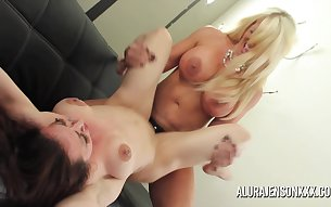Big tit blonde Alura Jenson made a new muscular girlfriend and her name is Brandi Mae!
