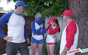 Baseball chick Taylor Blake is fucked darn great during swinger party